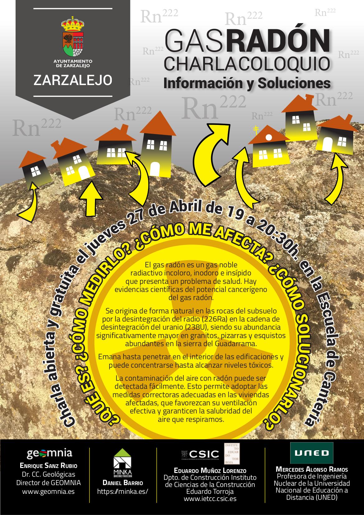 Charla coloquio gas rad n informaci n y soluciones for Medicion de gas radon
